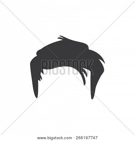Short Male Hair Vector Icon On White Background. Short Male Hair Icon In Modern Design Style. Short