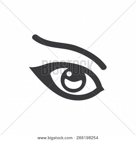 Female Eye Vector Icon On White Background. Female Eye Icon In Modern Design Style. Female Eye Vecto
