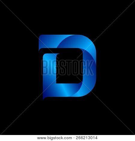 Initial D, Font D, D, Letter D Vector Design Template, Logo D Emblem, D Design Vector Image, D Blue