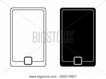 Black And White Illustration Of Generic Smartphones