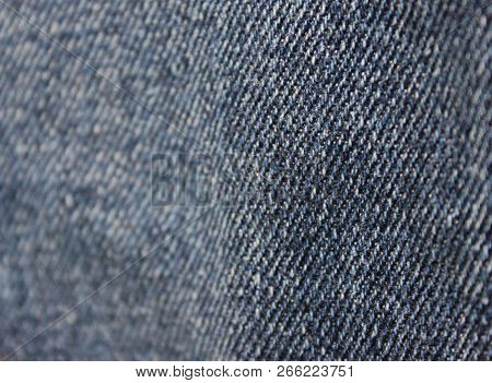 Jean Denim Texture Background Of Dark Blue Natural Pattern. Fabric Material Of Classic Vintage Cloth