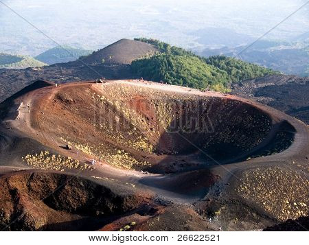 Craters Silvestri of the volcano Etna in Sicilia