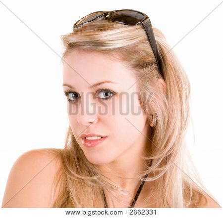 Portrait Of A Beautiful Blonde Lady