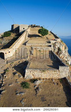 castle rock of Palamidi in Nauplion, Greece