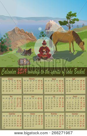 Calendar 2019 Worship Of Spirits On Lake Baikal At Cape Burhan Near The Sacred Place Where They Brin