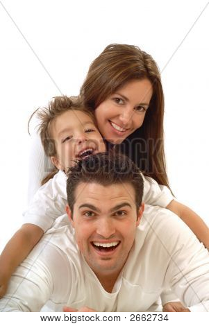 Joyful, Happy Family