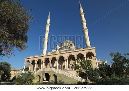 Haci Veys Zade is the biggest mosque in Konya, Turkey poster
