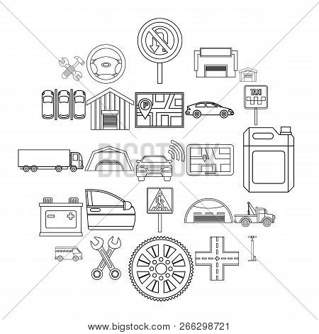 Reservoir Icons Set. Outline Set Of 25 Reservoir Vector Icons For Web Isolated On White Background