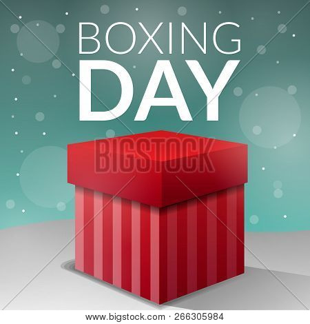 Boxing Day Gift Box Concept Background. Cartoon Illustration Of Boxing Day Gift Box Vector Concept B