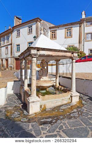 Fonte da Vila aka Village or Town Fountain in the Jewish Quarter or Ghetto built during the Inquisition. Castelo de Vide, Portalegre, Portugal. 16th century poster