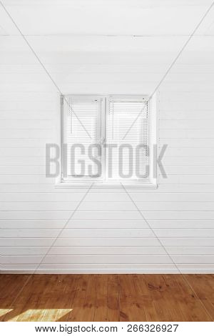 White Wall With Window In Coutry House