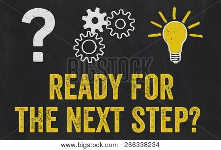 Question Mark, Gears, Light Bulb Concept - Ready For The Next Step