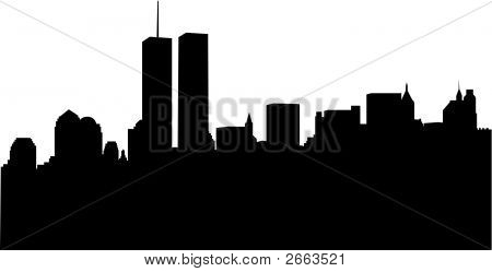 Nyc Skyline With Wtc