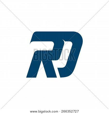Save Download Preview Letter Rd Logo Design, Letter Rd Logo Design, Rd Logo Design Vector Color Blue
