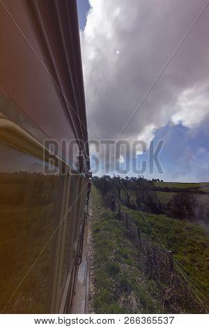 Old Train - Isle Of Man. Isle Of Man.