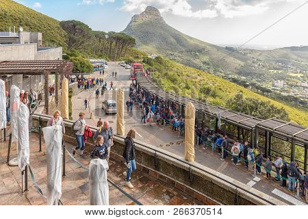 Cape Town, South Africa, August 17, 2018: The Lower Cable Station At Table Mountain In Cape Town In