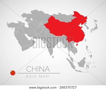 Map Of Asia Vector.Map Asia Identication Vector Photo Free Trial Bigstock