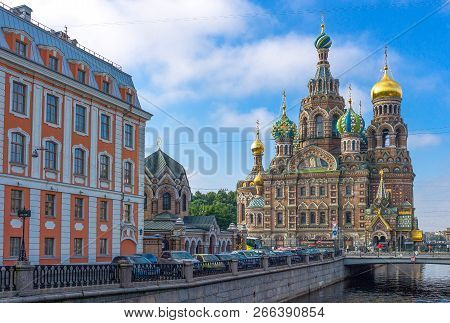 St.petersburg, Russia -  July 7, 2013:  The Churh Of Resurrection (savior Of Spilled Blod)