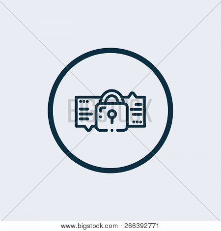 Encryption, Cryptography Key Concept Vector Thin Line Icon, Symbol, Sign, Illustration