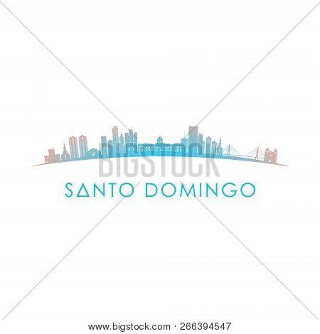 Santo Domingo Skyline Silhouette. Vector Design Colorful Illustration.