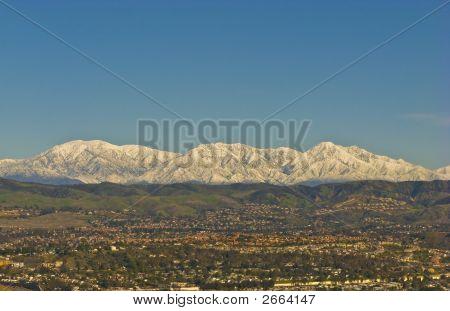 Snowy San Bernardino Mountains During Winter