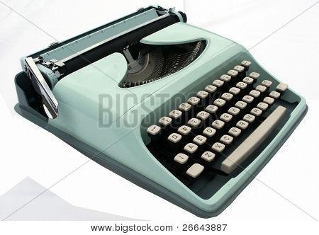 Vintage blue typerwriter