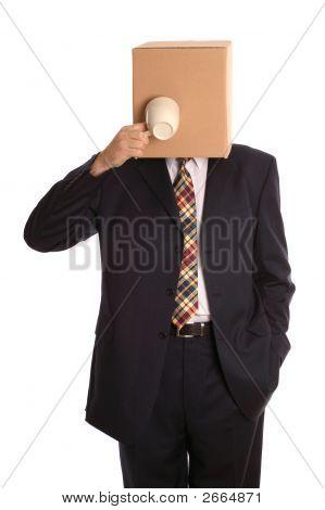 Box Man Coffee Break