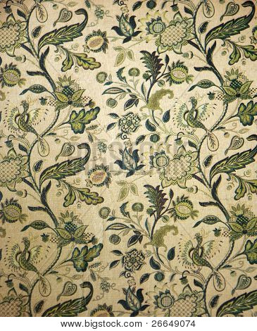 Vintage boko cover with flowers and birds