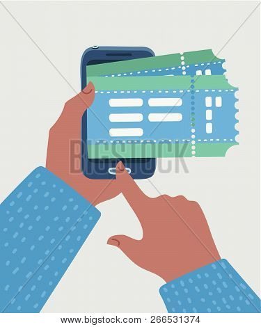 Application For Buying And Booking Tickets Online, E-commerce Online Shopping. Buy Tickets In The In