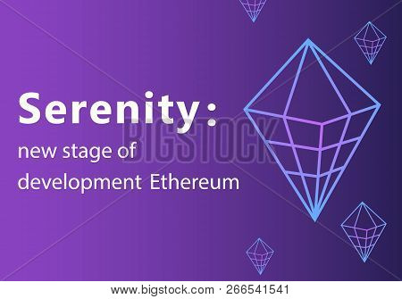 Serenity Vector Outline Icon.ethereum 2.0 Cryptocurrency, Payment, Crypto Currency, Blockchain Butto