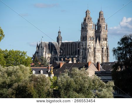 Tours Cathedral Is A Roman Catholic Church Located In Tours, Indre-et-loire, France. Its Name In Fre