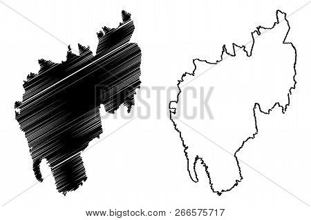 Tripura (states And Union Territories Of India, Federated States, Republic Of India) Map Vector Illu
