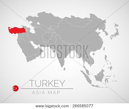 Map Asia Identication Vector Photo Free Trial Bigstock