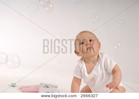 Child With The Soap Bubbles