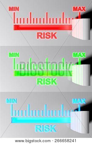 Level Selector For Risk - 3d Rendering Illustration