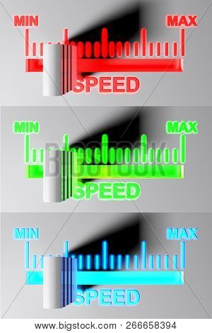 Level Selector For Speed - 1st Pos - 3d Rendering Illustration