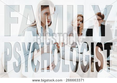Difficult Teeneger. Family Problem. Conflict Between Mother And Daughter. Mother And Daughter At Psy