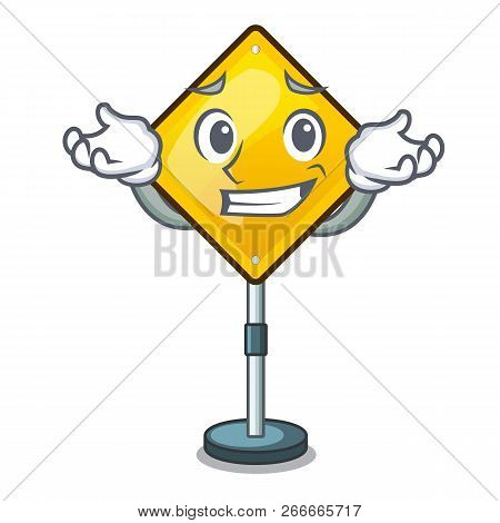 Grinning Warning Attention Sign Shaped Character Exclamation