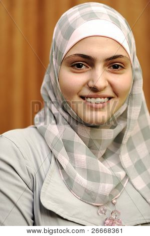 Beautiful muslim arabic girl poster