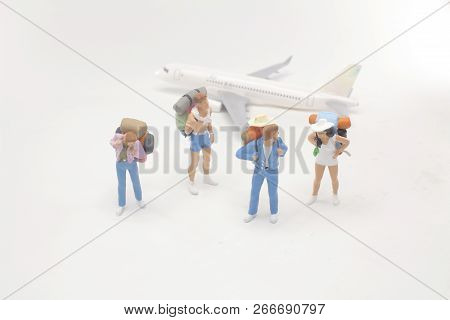Mini Figures With Back Pack With Airplane