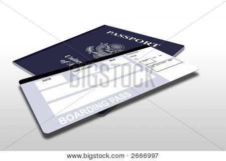 Passport And Airline Ticket 2