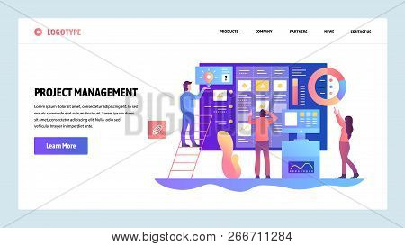 Vector Web Site Design Template. Agile Project Management And Business Teamwork. Landing Page Concep