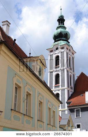 in Cesky Krumlov, Czech Republic.