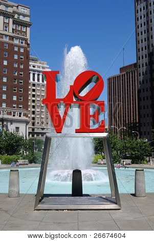 PHILADELPHIA - MAY 30: The popular Love Park aptly named after the Love statue May 30, 2010 in Philadelphia, Pennsylvania.