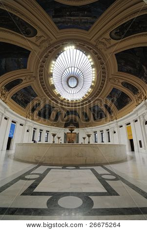 NEW YORK CITY - SEPTEMBER 26: Interior of the historic Alexander Hamilton U.S. Customs House, now a Native American Museum September 26, 2010 in New York, New York.