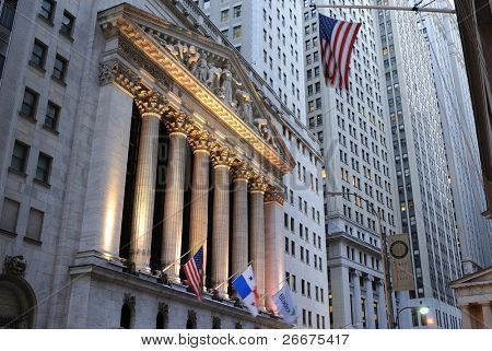 NEW YORK CITY - OCTOBER 13: The historic New York Stock Exchange is the largest stock exchange in the world October 13, 2010 in New York, New York.