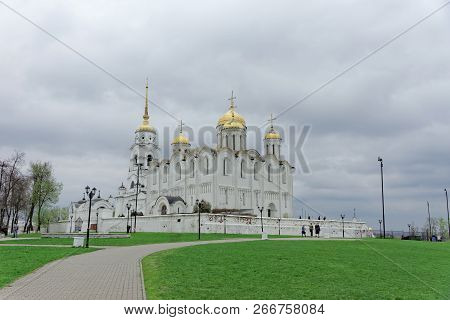 Vladimir, Russia. - May 06.2018. Vladimir Cathedral Holy Assumption Cathedral.
