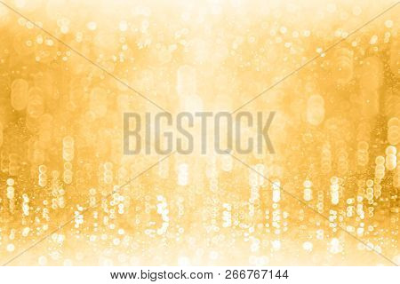 Gold Glitter Sparkling Background For New Year Eve Champagne Bubbles Or Birthday Anniversary