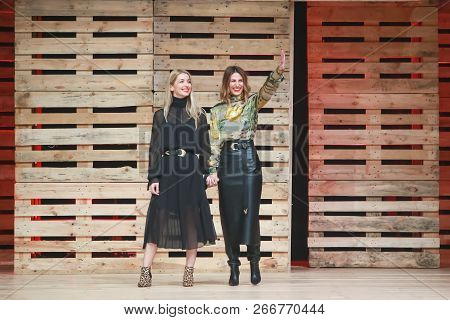 Zagreb, Croatia - October 27, 2018 : Fashion Designers For Mateyaneira Fashion Brand Mateja Dujic An