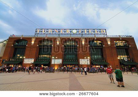 ATLANTA, GEORGIA - JUNE 16: Turner Field was originally built as Centennial Stadium, the centerpiece of the 1996 but has since been home to the Braves June 16, 2011 in Atlanta, GA.